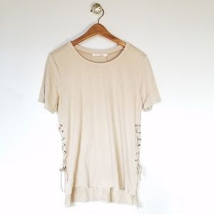HAVE faux suede top size Large